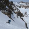 Skiing the N Couloir of Mt. Lamarck