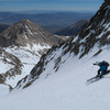 Skiing the NE (L shaped) Couloir on Mt. Sill