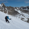 Skiing the NE (L shaped) Couloir on Mt.Sill