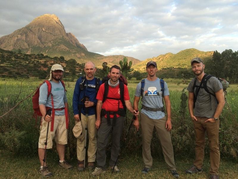 Original crew leaving the crag (October after the rainy season)