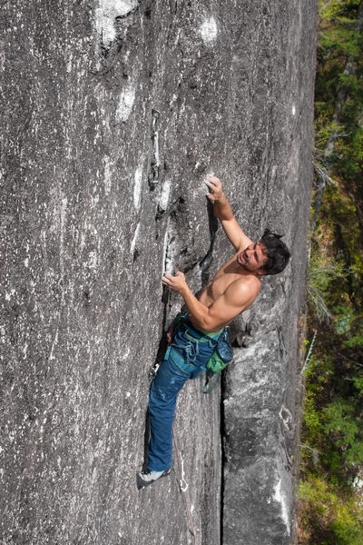 Chandler on the P4 traverse!