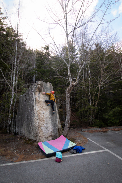 Alex Poli styling the 'Parking Lot Boulder' (v1-).