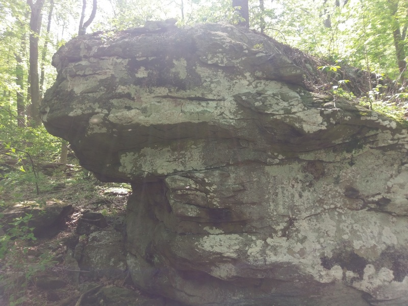 Shaper's (V3) at the Smelted Boulder in Catoctin Mountain Park