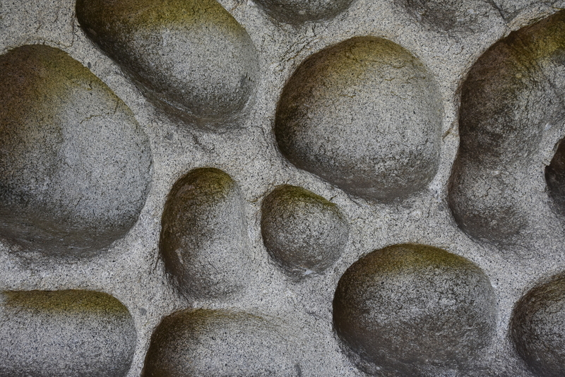 Very interesting rocks. Some boulders are shaped like eggs on the outside but on the inside they are like this. Pretty cool!