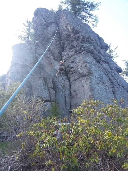 Elisa on the second ascent of Booboo kitty