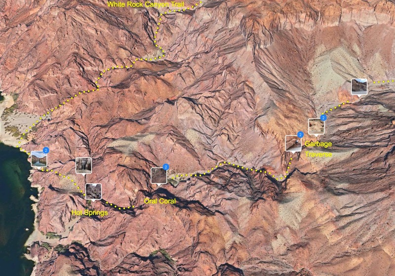 Apple Maps screenshot of routes relative to the hot springs.