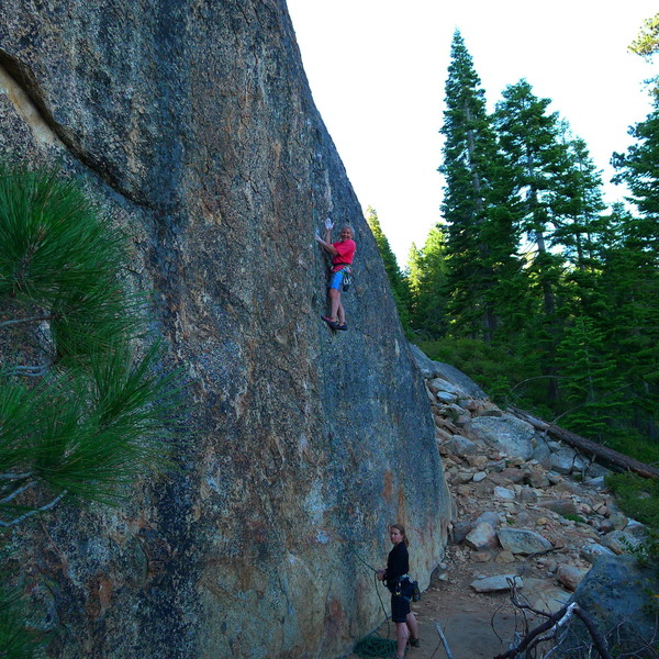 Mike A. on, Squeeze Job. 5.10d/11a