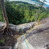 Looking down the first pitch.  Apparently you can go two ways.  I've only done the slab option.