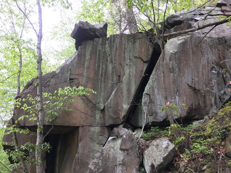 Cluster of boulders.