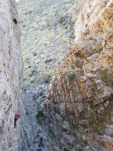 Angel on the first crux