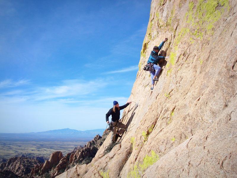 David and Mike climbing on The Sheepshead.