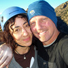Happy newly engaged couple on top of The Sheepshead - December 2009