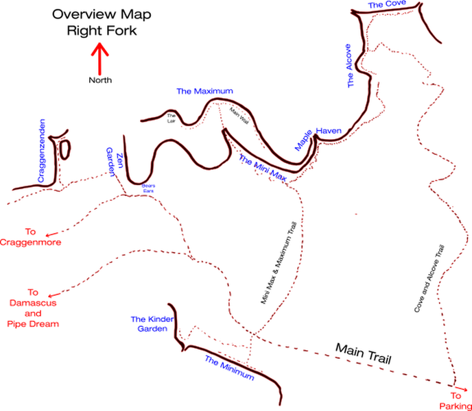 Overview map of the general area.  The Maximum  is at the top/center.