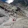 UT climbers on the S Buttress of Pingora