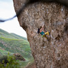 Climber Sarah O'Donnell<br> Photo by Anthony Johnson