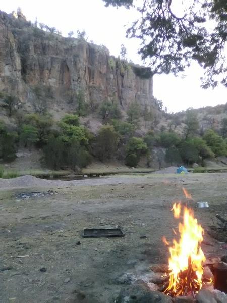 Foto desde el camping