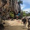 Tufa bouldery start, fun stuff