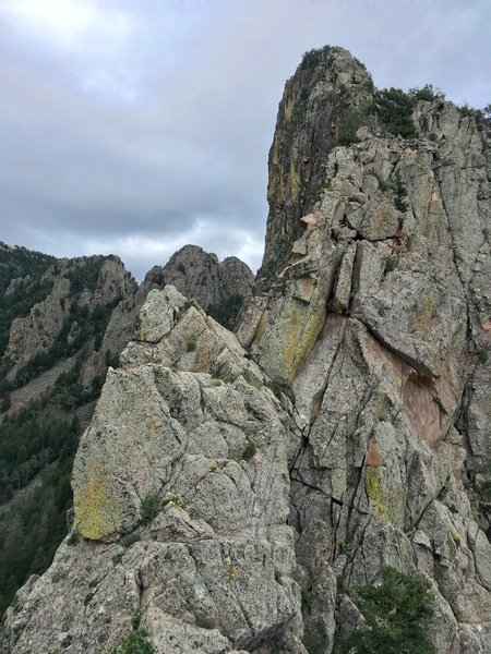 The ridge above Pitch 4