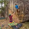 Bouldering at Jurassic Park sector