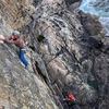 What a cool route! Steep climbing by the ocean!