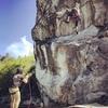 Climbing at Karen rock