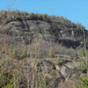 Seen from the trail, good sized cliff.