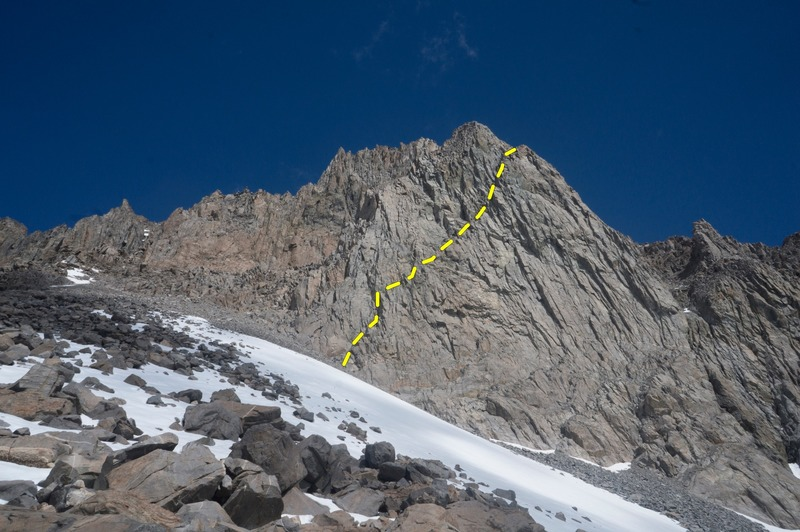 You can just make out the diagonal ramp running from center frame to the notch right of the high point.