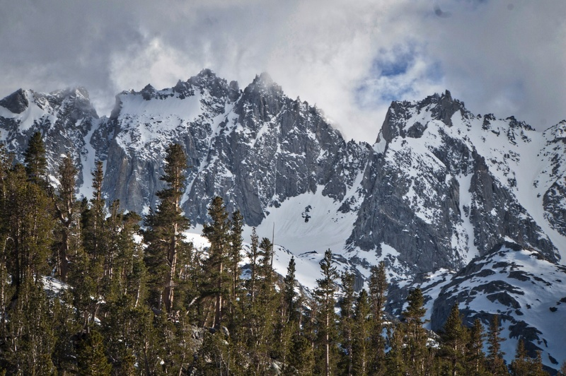 Telephoto of North Palisade from Black Lake.