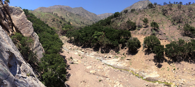 Panorama from atop Applied Magnetics, in San Ysidro Canyon (May 28, 2018)