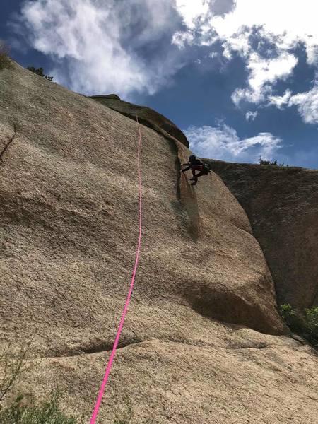 Fun flake climbing.