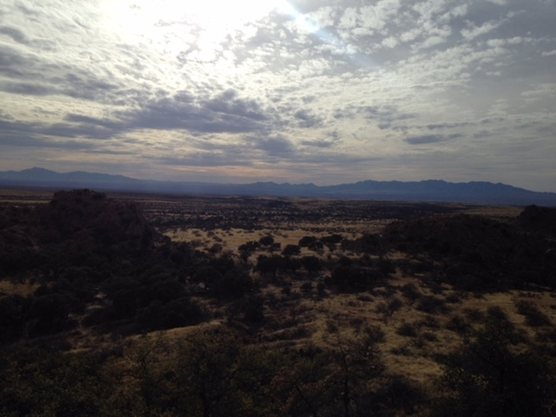 View North from Trad Rock in Isle of You, Cochise Stronghold.
