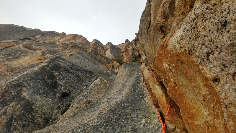 5.9 crux pitch. pitch 6 is visible directly above it.