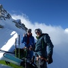 The American Team psyched and about to motor up to the summit of Mont Blanc.