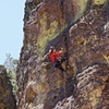Lots of really good holds make for solid sustained climbing<br> <br> Photo by Ben Allan