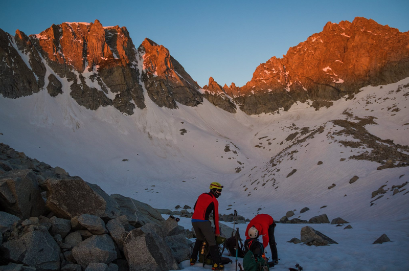 Mt Gilbert and North Couloir to the left at sunrise