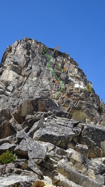 South Face; much of the bottom pitch is out of sight here.