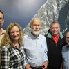 All of these guys have climbed on Whitehorse and Cathedral.Todd and Donette Swain,Chris Bonington,Pete Myers, and Paul Ross.. Photo Keswick UK. May 2018