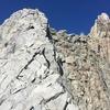 the beginning of the ridge climbing.