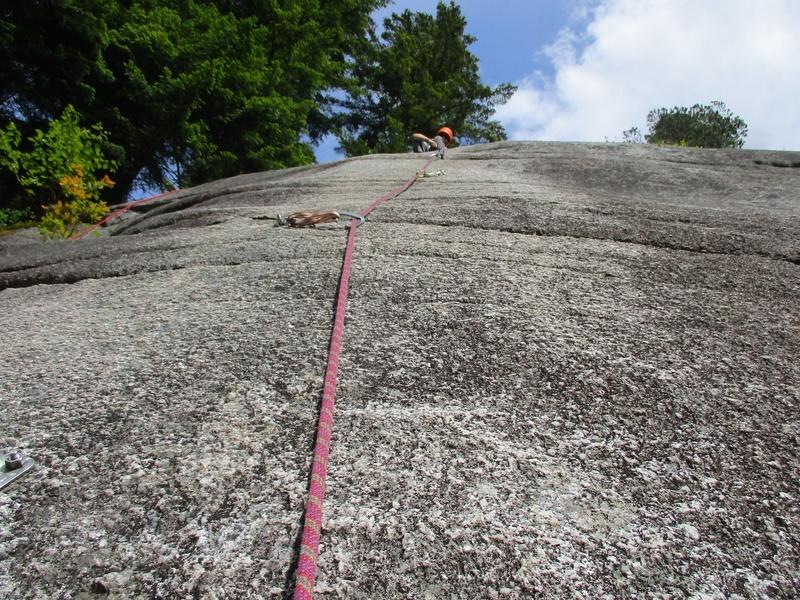 Slabby climbing on GMB.