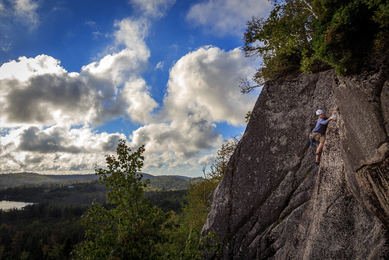 Jean at the Baiting Bambi crux
