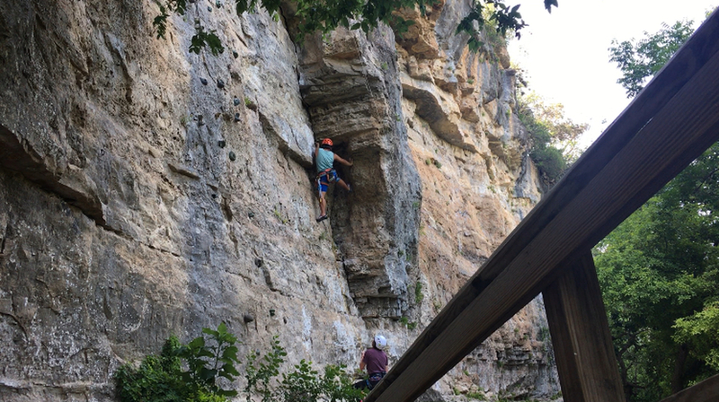Bacho entering the crux section of Dihedral.