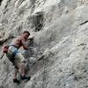 Luke crushing Gabba the Nut, 5.12c