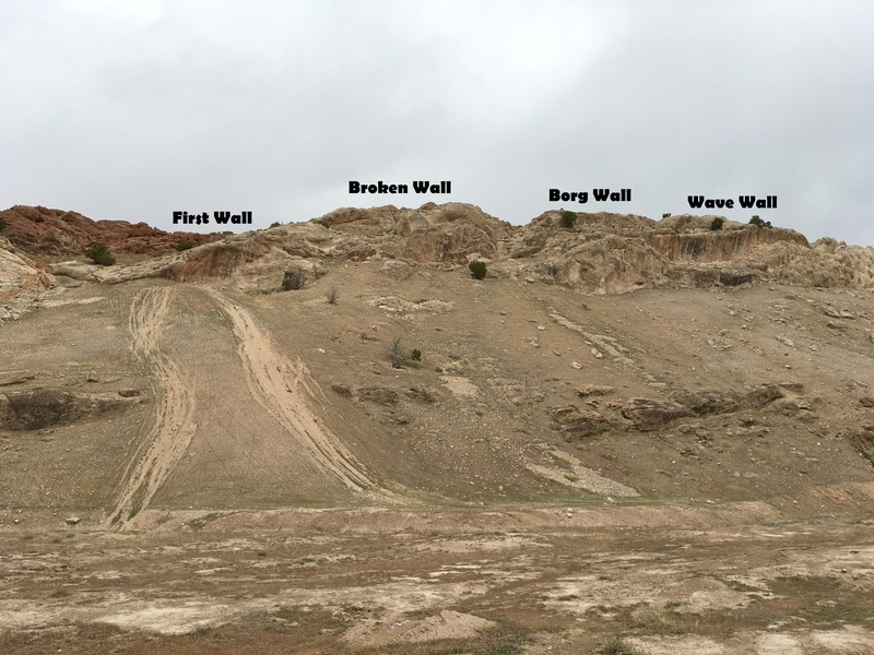 Walls of the South Ridge Area.