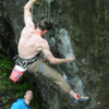 Intro boulder, I consider this to be V9 for someone of my stature.