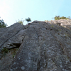 Kingpin meanders to the left to climb the arete