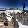 Great summer skiing on North Peak. You can take the northwest ridge and do some easy down climbing from the summit to access the couloirs. These photos were taken 4th of July, 2016