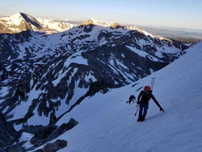 The upper traverse snowfield.