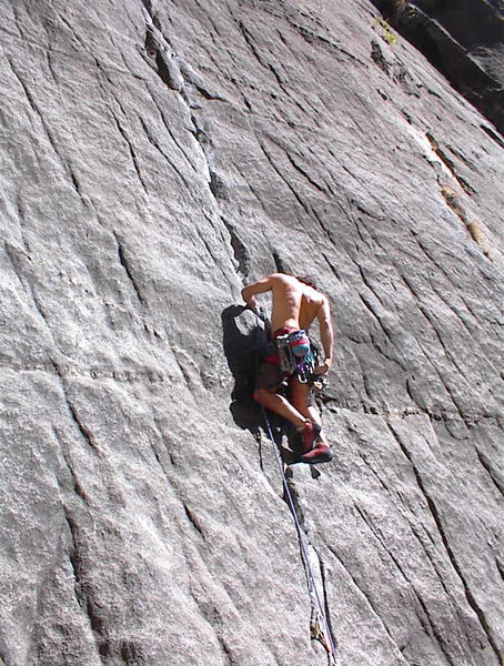 Charles Milligan on the 5 star Valley classic, Ten Years After 5.10d
