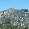 Approach options-<br> Yellow: from front porch <br> Green: from top of trail 261 where it ends on a porch-like boulder