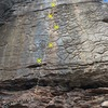 Another pic of the line with bolts marked
